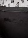 Брюки укороченные на эластичном поясе oodji #SECTION_NAME# (черный), 11706203-1/19887/2900N - вид 4