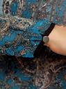 Блузка из струящейся ткани с контрастной отделкой oodji #SECTION_NAME# (бирюзовый), 11411059-2/38375/7355E - вид 5