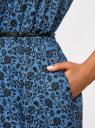 Платье принтованное из вискозы oodji #SECTION_NAME# (синий), 11910073-2/45470/7529F - вид 5