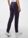 Брюки спортивные на завязках oodji для женщины (фиолетовый), 16701051B/47883/7902N
