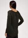 Джемпер с люрексом и удлиненной спинкой oodji для женщины (черный), 73807287/47647/2902X