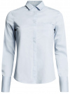 Рубашка базовая с одним карманом oodji #SECTION_NAME# (синий), 11406013/18693/7000N