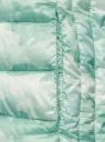 Куртка стеганая с круглым вырезом oodji #SECTION_NAME# (зеленый), 10204040-1B/42257/6560O - вид 5