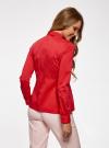 Блузка базовая с баской oodji #SECTION_NAME# (красный), 11400444B/42083/4502N - вид 3