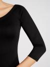 Платье облегающее с вырезом-лодочкой oodji #SECTION_NAME# (черный), 14017001/42376/2900N - вид 5