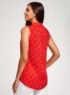 Топ вискозный с нагрудным карманом oodji для женщины (красный), 11411108B/26346/4510Q - вид 3