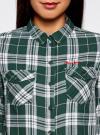 Рубашка в клетку с нагрудными карманами oodji #SECTION_NAME# (зеленый), 11400433/43223/6912C - вид 4