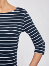 Платье трикотажное базовое oodji для женщины (синий), 14001071-2B/46148/7910S - вид 5