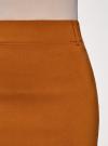 Юбка-карандаш длиной до колена  oodji #SECTION_NAME# (коричневый), 11610003/14007/3100N - вид 5
