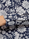 Блузка базовая из вискозы oodji для женщины (синий), 11411136B/26346/7912F