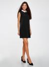 Платье без рукавов с воротничком oodji #SECTION_NAME# (черный), 11911006/42354/2900N - вид 2