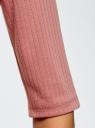 Водолазка трикотажная с рукавом до локтя oodji #SECTION_NAME# (розовый), 15E01002-2/46464/4B00N - вид 5