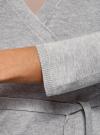 Жакет трикотажный с запахом oodji #SECTION_NAME# (серый), 63212495/46314/2000M - вид 5