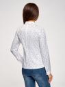 Блузка хлопковая с баской oodji #SECTION_NAME# (белый), 13K00001B/26357/1079Q - вид 3