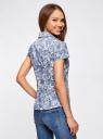Блузка принтованная из легкой ткани oodji #SECTION_NAME# (слоновая кость), 21407022-9/12836/3075E - вид 3