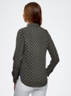 Блузка принтованная из вискозы oodji #SECTION_NAME# (серый), 11411087-1/24681/2930G - вид 3