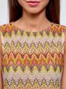 Топ из фактурной ткани с этническим узором oodji для женщины (розовый), 15F05004/45509/4152E