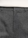 Брюки широкие с завышенной талией oodji для женщины (черный), 11701051-1/49562/2920G