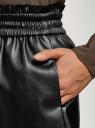 Шорты из искусственной кожи oodji для женщины (черный), 18M01002/45059/2900N