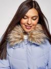 Куртка с воротником из искусственного меха oodji для женщины (синий), 10210002-1/46266/7500N - вид 4