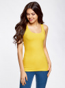 Комплект из двух базовых маек oodji для женщины (желтый), 24315001T2/46147/5100N