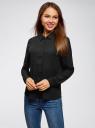 Блузка базовая из струящейся ткани oodji #SECTION_NAME# (черный), 11400368-8B/48854/2900N - вид 2