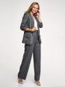 Жакет без застежки с рукавом 3/4 из фактурной ткани oodji для женщины (черный), 11207010-14B/49562/2920G
