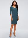 Платье трикотажное с рукавом 3/4 oodji для женщины (зеленый), 24001100/42408/6C00N