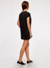 Платье прямого силуэта с отворотами на рукавах oodji #SECTION_NAME# (черный), 14008020B/47999/2900N - вид 3