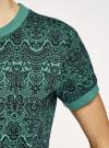 Платье свободного силуэта из фактурной ткани oodji #SECTION_NAME# (зеленый), 14000162/46155/6229E - вид 5