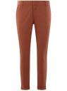 Брюки-чиносы хлопковые oodji для женщины (коричневый), 11706204/46777/3100N