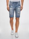 Шорты джинсовые oodji #SECTION_NAME# (синий), 6L220017M/35771/7000W - вид 2