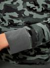 Свитшот хлопковый прямого силуэта oodji #SECTION_NAME# (серый), 14807021-1B/46919/2025O - вид 5
