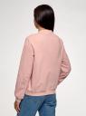 Куртка трикотажная на молнии oodji для женщины (розовый), 16901095/50008/4000N
