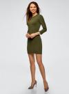 Платье вязаное с рукавом 3/4 oodji #SECTION_NAME# (зеленый), 63912222-2B/45109/6800N - вид 6