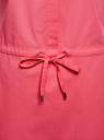 Платье хлопковое на кулиске oodji #SECTION_NAME# (розовый), 11901147-5B/42468/4D00N - вид 5