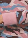 Свитшот принтованный с круглым вырезом oodji для женщины (розовый), 14807021-1/46919/5423O - вид 5