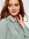 Блузка базовая из вискозы oodji для женщины (зеленый), 11411136B/26346/6012D