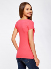 Комплект приталенных футболок (2 штуки) oodji #SECTION_NAME# (розовый), 14701005T2/46147/4D00N - вид 3