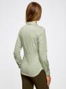 Рубашка базовая с нагрудными карманами oodji #SECTION_NAME# (зеленый), 11403222B/42468/6612D - вид 3