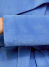 Пальто без застежки с поясом oodji #SECTION_NAME# (синий), 10104042-1/47736/7500N - вид 5