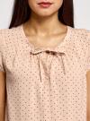 Блузка свободного силуэта с бантом oodji #SECTION_NAME# (розовый), 11411154/24681/4B29Q - вид 4