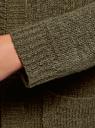 Кардиган с капюшоном и накладными карманами oodji для женщины (зеленый), 63205252/48953/6800N