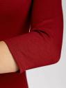 Платье трикотажное базовое oodji #SECTION_NAME# (красный), 14001071-2B/46148/4900N - вид 5