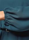 Платье из шифона с ремнем oodji для женщины (зеленый), 11900150-5B/32823/6C00N - вид 5