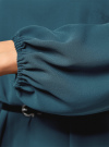 Платье из шифона с ремнем oodji #SECTION_NAME# (зеленый), 11900150-5B/32823/6C00N - вид 5
