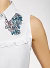 Платье хлопковое без рукавов oodji #SECTION_NAME# (белый), 11911027-2/13175N/1040P - вид 5