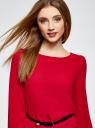 Платье из шифона с ремнем oodji для женщины (красный), 11900150-5B/32823/4500N