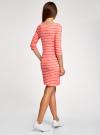 Платье трикотажное базовое oodji для женщины (красный), 14001071-2B/46148/4310S - вид 3