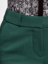 Брюки зауженные со стрелками oodji для женщины (зеленый), 21706027-1/35589/6E00N